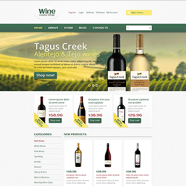 Wine Responsive Jigoshop Theme