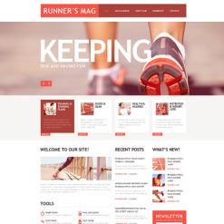 Running Responsive Website Template