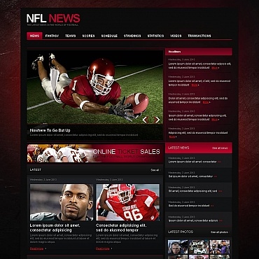 Football Moto CMS HTML Template