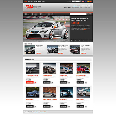 Car Dealer OsCommerce Template