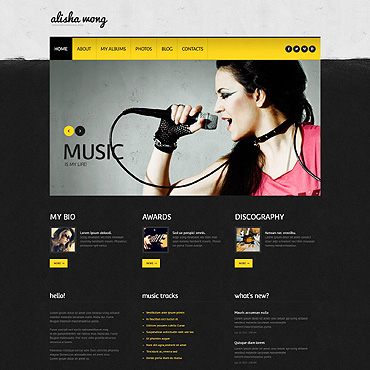 Personal Page Responsive WordPress Theme