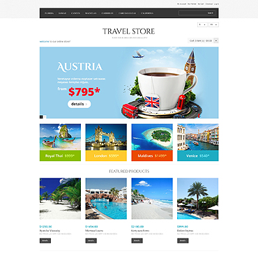 Travel Store Responsive Magento Theme