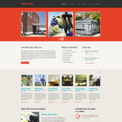 Funeral Services Responsive Website Template