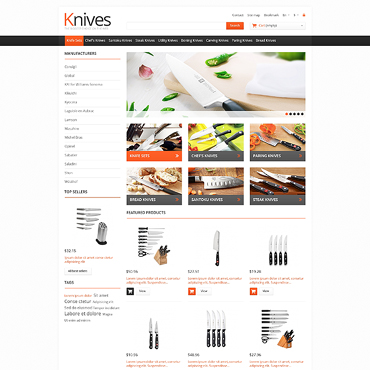 Knives for Easy Cooking PrestaShop Theme #46012