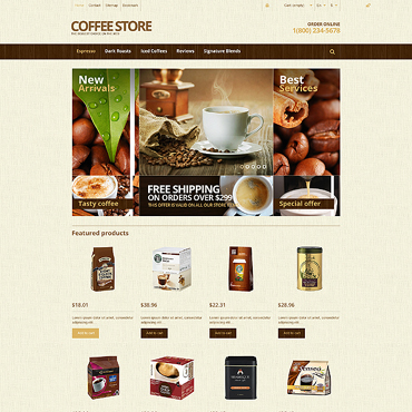 Coffee Shop Responsive PrestaShop Theme