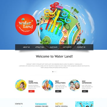 Amusement Park Responsive Website Template
