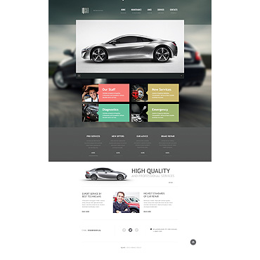 Car Repair Responsive Website Template #46252