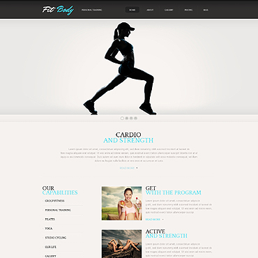 Bodybuilding Wix Website Template