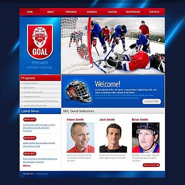 Hockey Moto CMS HTML Template
