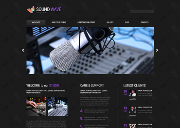 Recording Studio Responsive Joomla Template