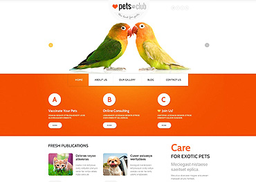 Animals & Pets Responsive Joomla Template