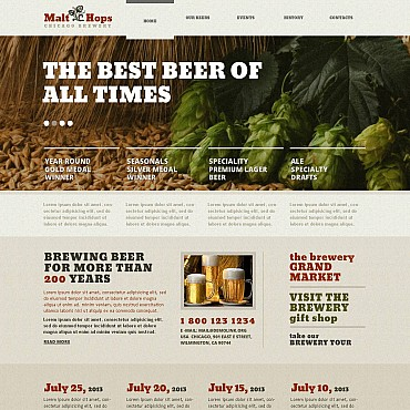 Brewery Flash CMS Template