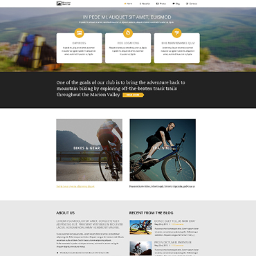 BMX Responsive Website Template
