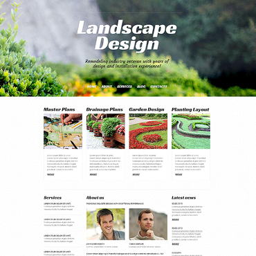 Landscape Design Responsive WordPress Theme
