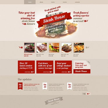 Steakhouse Responsive Website Template