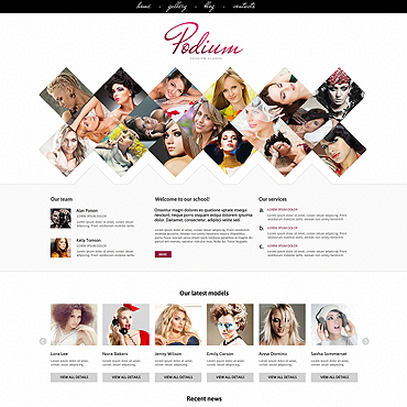 Model Agency Responsive Joomla Template