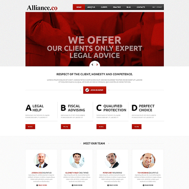 Law Firm Responsive Joomla Template