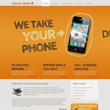 Maintenance Services Moto CMS HTML Template