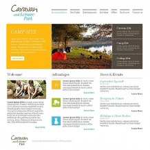 Camping Moto CMS HTML Template