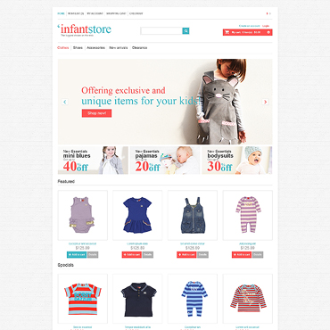 Infant Store OpenCart Template #47064