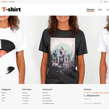 T-shirt Shop Responsive PrestaShop Theme