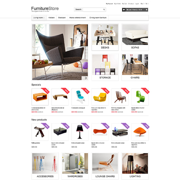 Furniture Responsive Magento Theme
