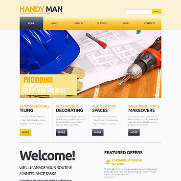 Maintenance Services Responsive Joomla Template