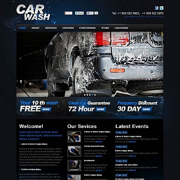 Car Wash Flash CMS Template