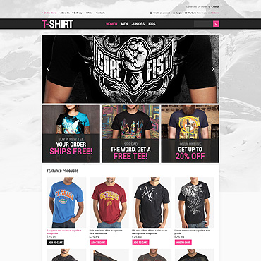 T-shirt Shop VirtueMart Template