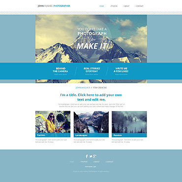 Photographer Portfolio Wix Website Template