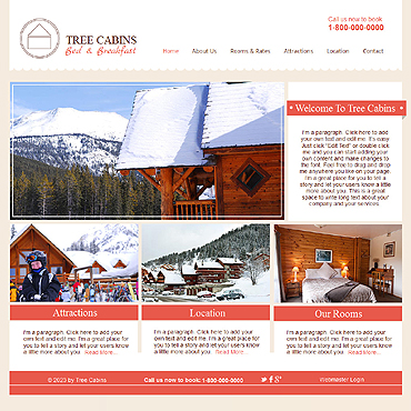 Hotels Wix Website Template