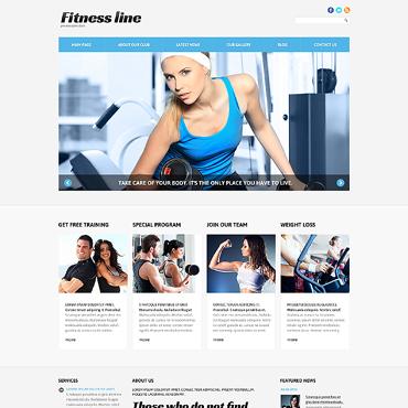 Fitness Responsive Joomla Template