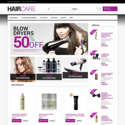 Hair Salon Responsive Magento Theme