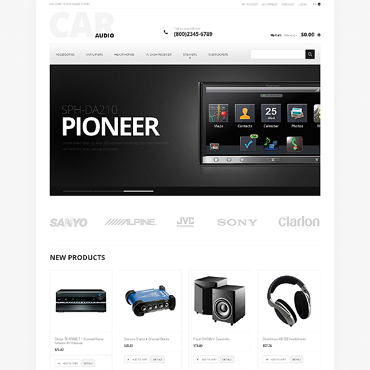 Car Audio Responsive Magento Theme