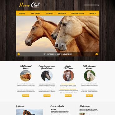 Horse Responsive Joomla Template #47488