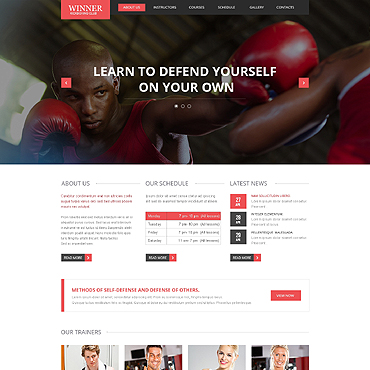 Boxing Responsive Website Template