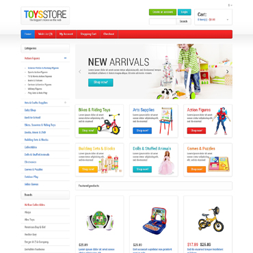Toys Store OpenCart Template #47556