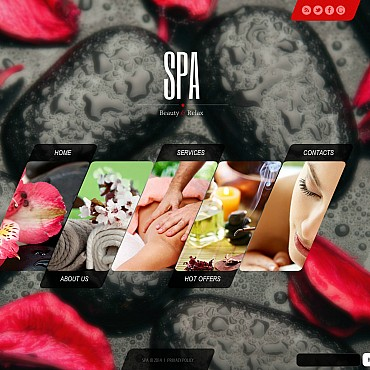 Beauty Salon Flash CMS Template