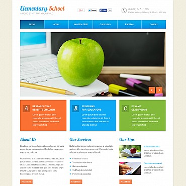 Primary School Flash CMS Template