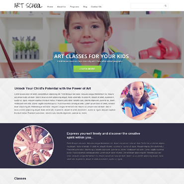 Art School Responsive Website Template