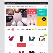 Shoe Store Responsive Magento Theme