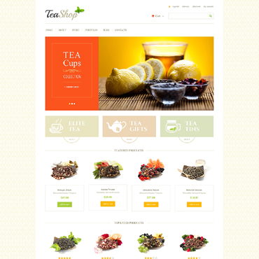 Tea Shop WooCommerce Theme