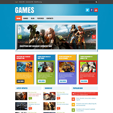 Flash Games Responsive WordPress Theme