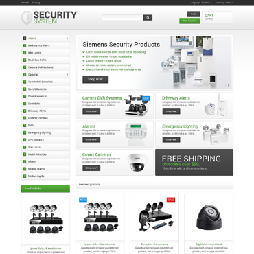 Security Responsive PrestaShop Theme