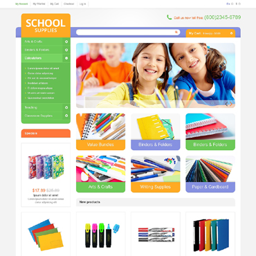 Stationery Responsive Magento Theme