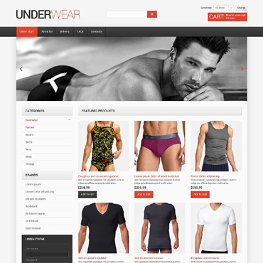 Men's Underwear VirtueMart Template