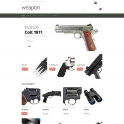 Gun Shop Responsive Jigoshop Theme