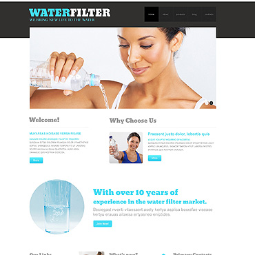 Water Responsive WordPress Theme