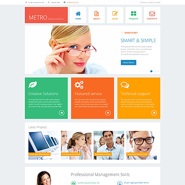 Financial Advisor Responsive Joomla Template #48080