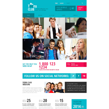Teen Club Responsive Website Template